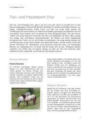 STS-Zoobericht 2013, Tier- und Freizeitpark Chur - Schweizer ...