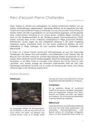STS-Zoobericht 2013, Parc d'accueil Pierre Challandes - Schweizer ...