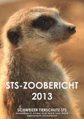 STS-Zoobericht 2013 - Schweizer Tierschutz STS