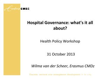 Hospital Governance: what's it all about? - Tilburg University