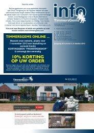 10% kORTING Op uw ORdER - Timmers-Gems B.V.