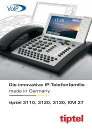 Prospekt IP-Telefone tiptel 3110-3130