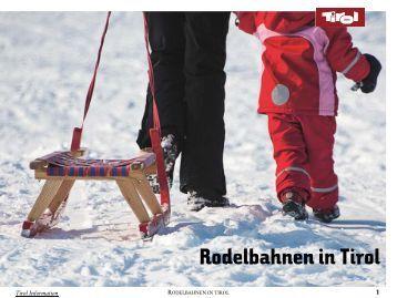 Rodelbahnen in Tirol Rodelbahnen in Tirol