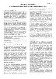 Allgemeine Bedingungen für die Ausführung von Leistungen im ...