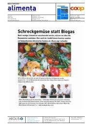 Schreckgemüse statt Biogas - Tischlein Deck dich