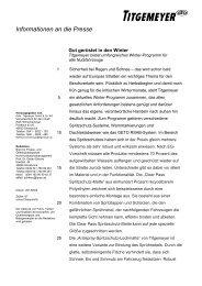 Güt gerüstet für den Winter - Titgemeyer