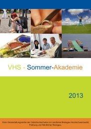 VHS - Sommer-Akademie 2013 - Titisee-Neustadt