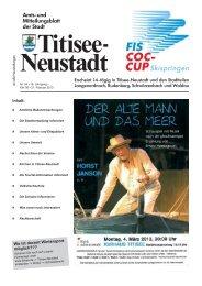 Amtsblatt Nr. 04 vom 21.02.2013 - Titisee-Neustadt
