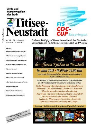 Amtsblatt Nr. 12 vom 14.06.2012 - Titisee-Neustadt