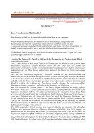 Newsletter 17 (250KB) - Das Mali-Projekt