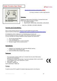 Kidde Wired RTH Spec sheet - TLC Electrical Supplies