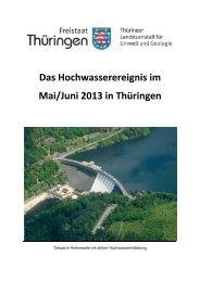 Bericht der TLUG - Thüringer Landesanstalt für Umwelt und Geologie
