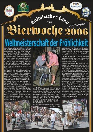 """""""Ein Prosit der Gemütlichkeit!"""" Ein geselliges Bierfest - Bierfestzeitung"""