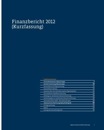 Finanzbericht 2012 (Kurzfassung) PDF (1.1 MB) - Alpiq