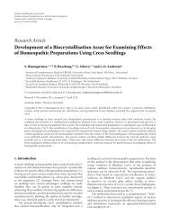 Research Article Development of a Biocrystallisation Assay for ...