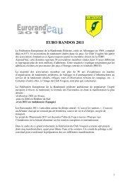 EURO RANDOS 2011