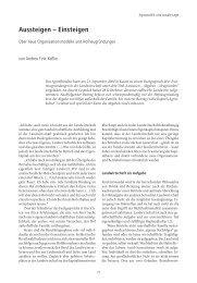 Aussteigen – Einsteigen Über neue Organisationsmodelle und ...