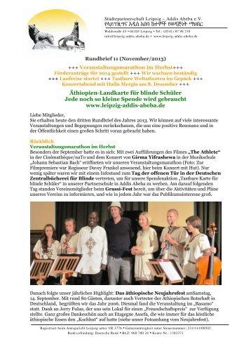 Herbst 3/2013 - Städtepartnerschaft Leipzig Addis-Abeba