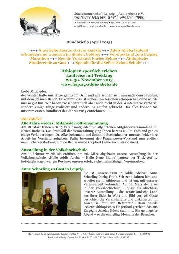 Frühjahr 1/2013 - Städtepartnerschaft Leipzig Addis-Abeba