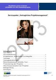 SERVICEPAKET: Vertragliches Projektmanagement ... - NA beim BIBB