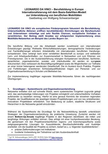 Gastbeitrag: Internationalisierung mit dem Basis ... - NA beim BIBB
