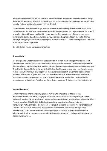 Überwältigende Resonanz - Mastholte-Online
