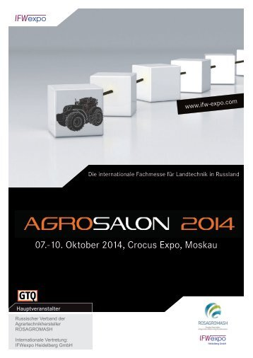 07.-10. Oktober 2014, Crocus Expo, Moskau - German Export ...