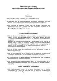 Benutzungsordnung der Bibliothek der Gemeinde Neschwitz