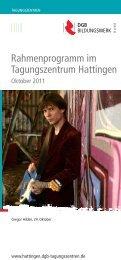 Rahmenprogramm im Tagungszentrum Hattingen - DGB ...