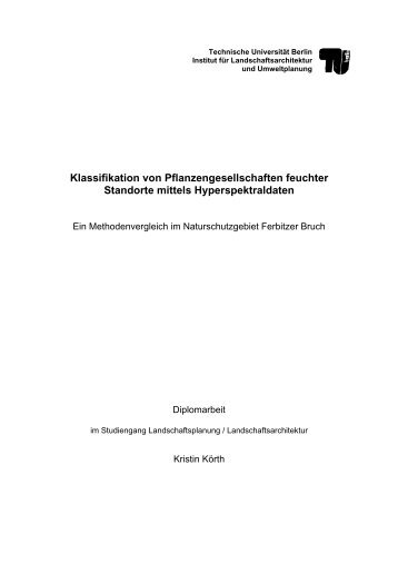Diplomarbeit Körth - Fakultät VI Planen Bauen Umwelt - TU Berlin