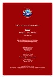 Katalog für Kategorie: ... Feste & Feiern - und Getränke-Welt Weiser