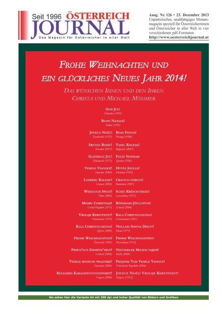 Frohe Weihnachten Und Ein Gutes Neues Jahr Tschechisch.Frohe Weihnachten Und Ein Gluckliches Neues Jahr 2014