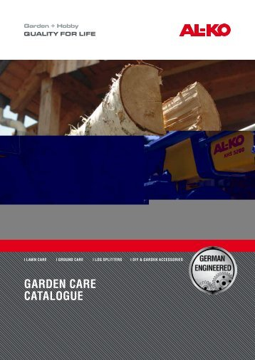 GARDEN CARE CAtAloGuE - ToolsZone.ro