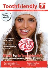 Confectionery Edition 1/2011 (PDF) - Toothfriendly International