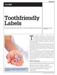 Toothfriendly Labels - Toothfriendly International