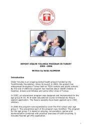 REPORT disler YOLUNDA PROGRAM IN TURKEY - Toothfriendly ...