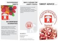 SWEET ADVICE … - Toothfriendly International