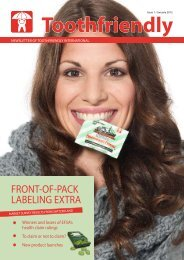 Confectionery edition 1/2012 (PDF) - Toothfriendly International
