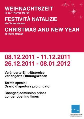 Therme Meran – Weihnachtszeit 2011/2012