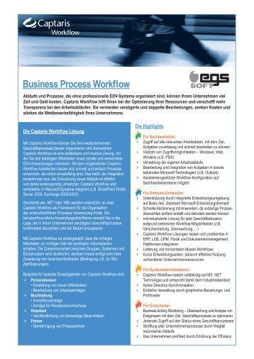 Business Process Workflow - egssoft Gmbh