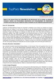 Newsletter vom 26.6.2012 - Top-Platz