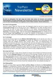 Newsletter vom 23.4.2009 - Top-Platz