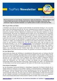Newsletter vom 05.6.2013 - Top-Platz