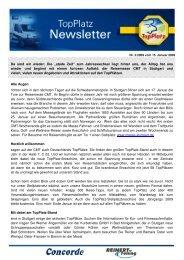 Newsletter vom 15.1.2009 - Top-Platz