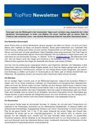 Newsletter vom 09.10.2012 - Top-Platz