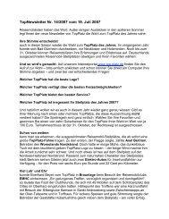 Newsletter vom 19.7.2007 - Top-Platz