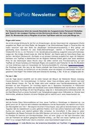 Newsletter vom 30.4.2013 - Top-Platz