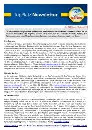 Newsletter vom 05.2.2013 - Top-Platz