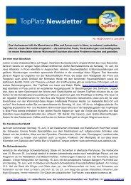 Newsletter vom 13.6.2013 - Top-Platz