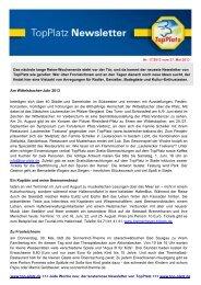 Newsletter vom 28.5.2013 - Top-Platz